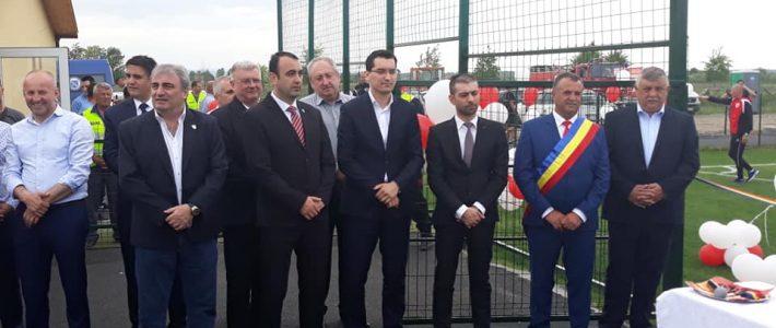 Inaugurarea stadionului central din comuna Recea