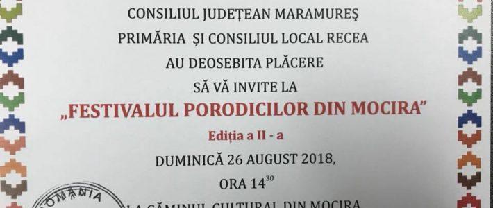 """Invitatie la """"Festivalul porodicilor din Mocira"""""""